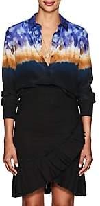 Altuzarra Women's Chika Tie-Dyed Silk Blouse-939 Ceramic Blue
