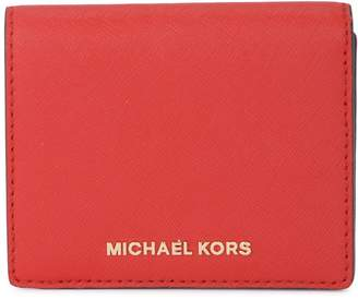 Michael Kors Red Saffiano Leather Card Holder