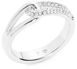 Kate SpadeKate Spade New York Silvertone Crystal Pave Loop Ring
