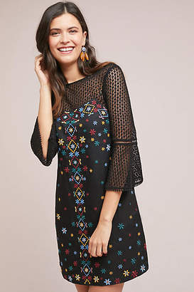 Akemi + Kin Maud Embroidered Shift Dress