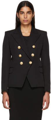 Balmain Black Wool Six-Button Blazer