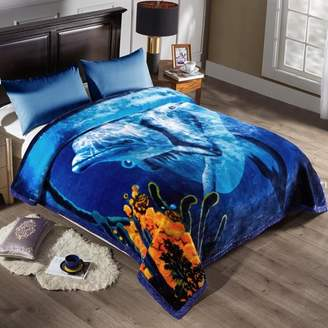 Online Fleece Blanket 2 Ply Printed Pattern - Plush Soft Warm Korean Mink Blanket,King