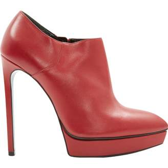 Saint Laurent Red Leather Ankle boots