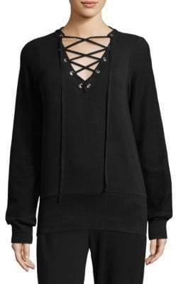 L'Agence Josilyn Lace-Up Sweatshirt