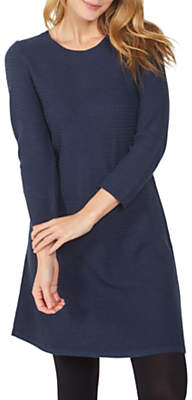 Fat Face Simone Knitted Dress, Navy