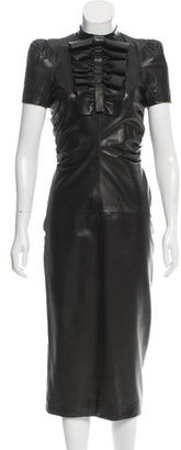 Dsquared2 Peggy Leather Dress $845 thestylecure.com