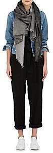 Barneys New York Women's Colorblocked Cashmere-Blend Scarf - Black