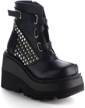 Demonia Women's Shaker 50 Platform Ankle Boot, Leather,US 9 M