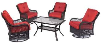 Hanover Orleans 5-Piece Patio Chat Set