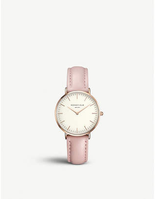 Rosegold ROSEFIELD TWPR-T58 Tribeca rose-gold and leather watch