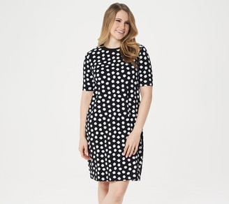 Isaac Mizrahi Live! Choice of Print Elbow Sleeve T-Shirt Dress