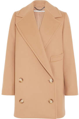 Stella McCartney - Edith Double-breasted Wool-blend Felt Coat - Tan $1,495 thestylecure.com