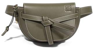 Loewe Gate Mini Leather Belt Bag - Womens - Khaki