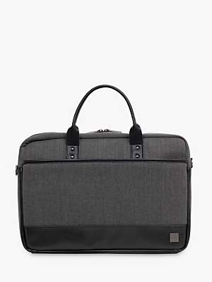 Knomo Princeton Briefcase for 15.6 Laptops, Grey