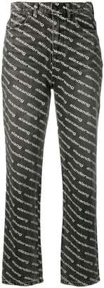 Alexander Wang high waisted logo print jeans