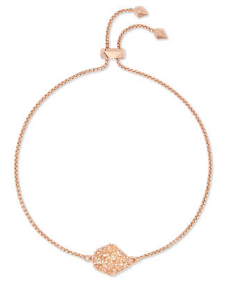 Kendra Scott Theo Rose Gold Adjustable Chain Bracelet in Sand Drusy