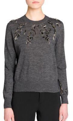 Jil SanderJil Sander Embellished Crewneck Sweater