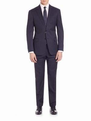 Armani Collezioni Pinstriped Wool Suit