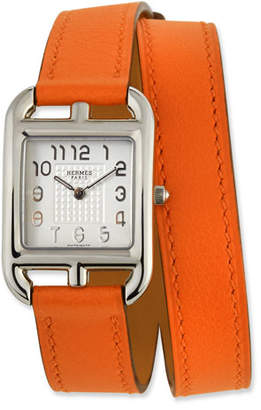 Hermes Cape Cod PM Watch with Orange Leather Strap