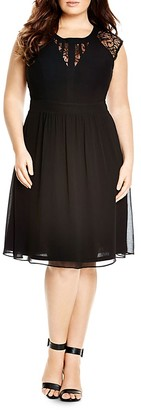 City Chic Dark Romance Lace Inset Dress $119 thestylecure.com