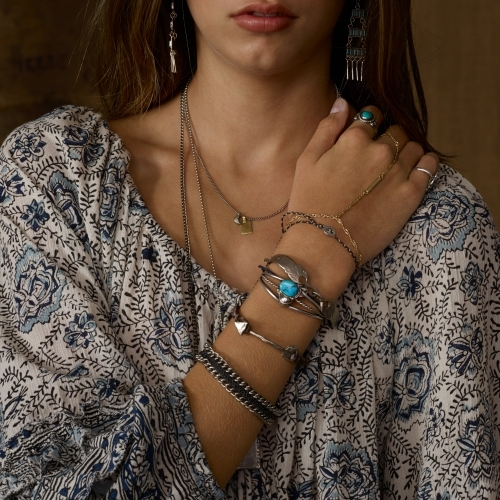 Denim & Supply Ralph Lauren Macramé Silver-Toned Bracelet