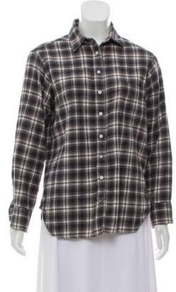 Rag & Bone Plaid Button Up Top