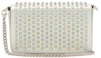 Christian Louboutin Zoompouch Spike Embellished Leather Cross Body Bag - Womens - White Multi