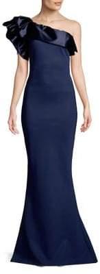 Chiara Boni One-Shoulder Mermaid Gown