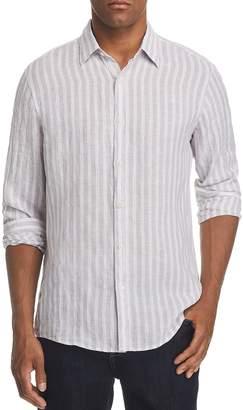 Michael Kors Slim Fit Striped Linen Button-Down Shirt - 100% Exclusive