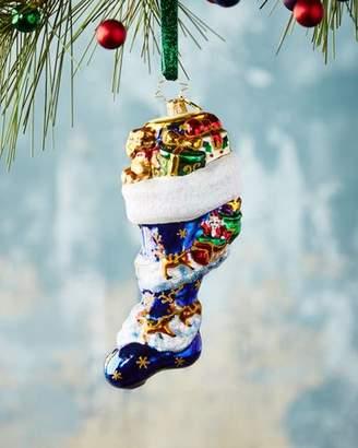 Christopher Radko Socked In Christmas Ornament