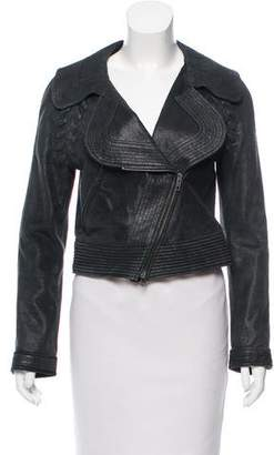 Yigal Azrouel Distressed Leather Jacket