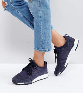 ae6d2899f1af New Balance 247 Trainers In Premium Nubuck In Navy