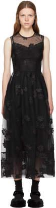 Simone Rocha Black Floral Tulle Bell Dress