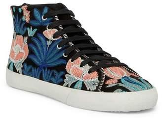 Rebecca Minkoff Zaina Embroidered Mid Sneaker