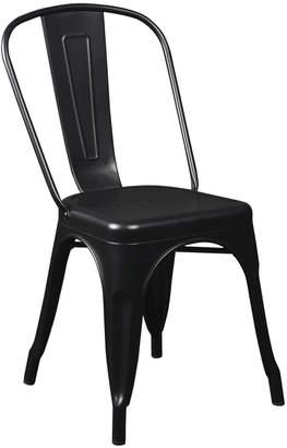 Lulu & Georgia Cela Stacking Chair (Set of 4), Matte Black