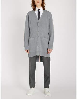 Thom Browne Striped-trim wool cardigan
