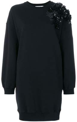 MSGM embellished shoulder sweater dress