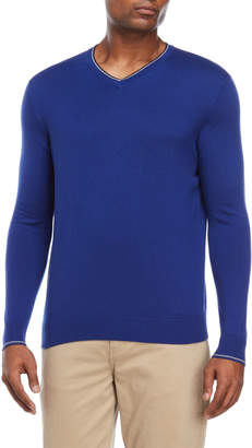 Forte Cashmere V-Neck Silk Sweater