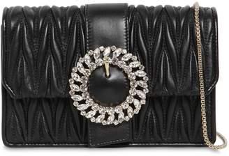 Miu Miu Bijoux Quilted Leather Clutch