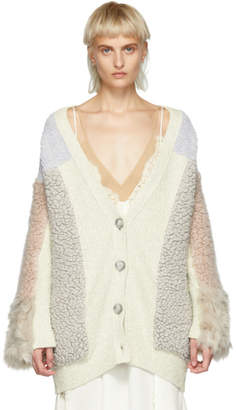Stella McCartney Off-White Mix Material Cardigan