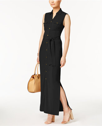 Olivia & Grace Belted Maxi Shirtdress $80 thestylecure.com