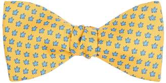 Barneys New York MEN'S TURTLE-PRINT SILK BOW TIE
