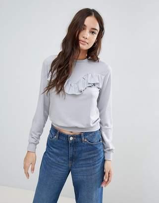Glamorous Frill Detail Sweatshirt
