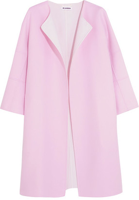 Jil Sander - Two-tone Cashmere Coat - Baby pink $4,180 thestylecure.com