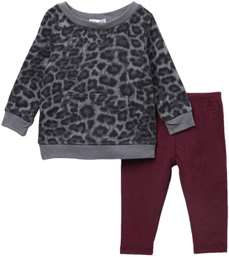 Splendid Leopard Print Top & Leggings 2-Piece Set (Baby Girls)