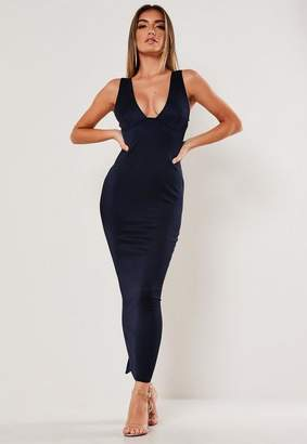 Missguided Plunge Bust Cup Maxi Dress