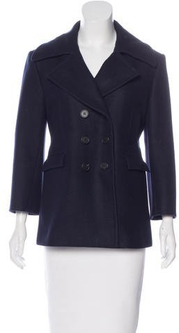 Celine Céline Double-Breasted Wool Coat