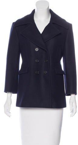 CelineCéline Double-Breasted Wool Coat
