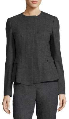 Jadela Sable Virgin Wool Business Jacket $625 thestylecure.com