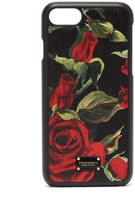 Dolce & Gabbana Rose-print leather iPhone® case